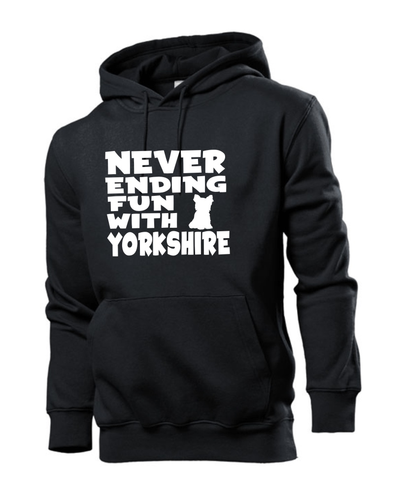Mikina s potiskem Never ending fun with Yorkshire