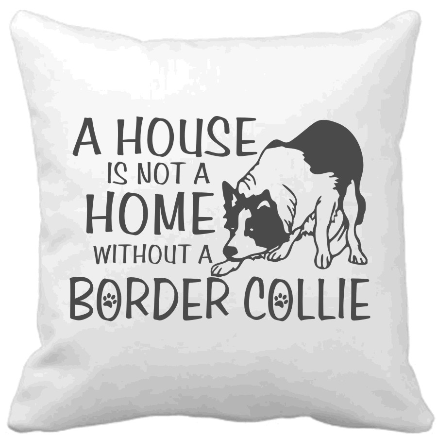 Polštář A house is not a home without a Border collie