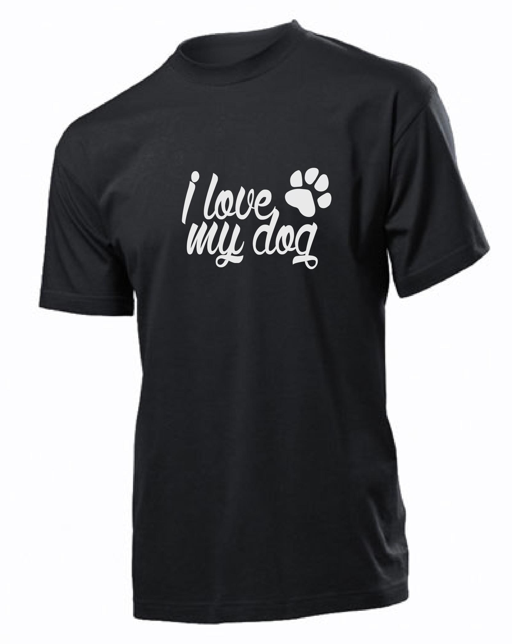 873bfe4d507a Tričko s potiskem I love my dog