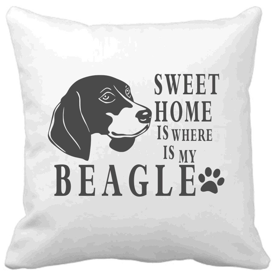 Polštář Sweet home is where is my Beagle