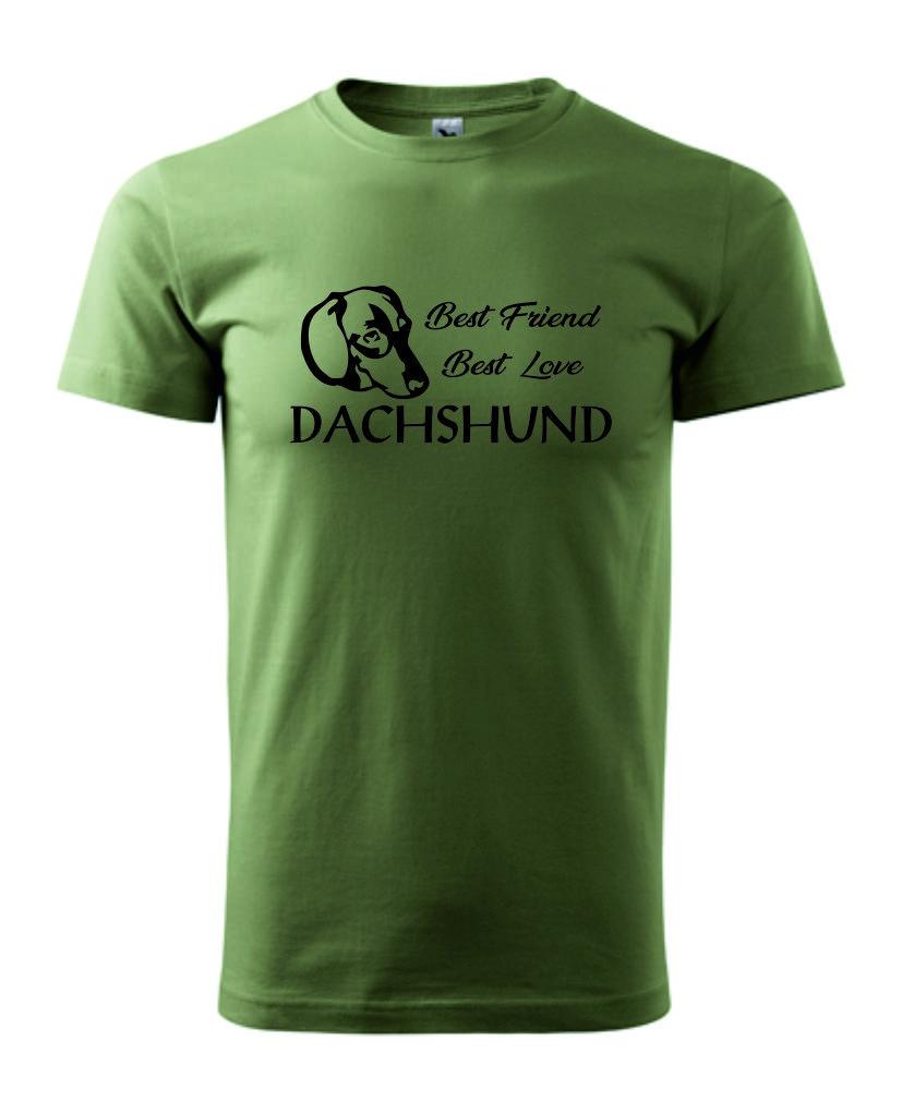 Tričko s potiskem Dachshund best friend 27808ea607