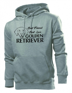 Mikina s potiskem Golden retriever best friend