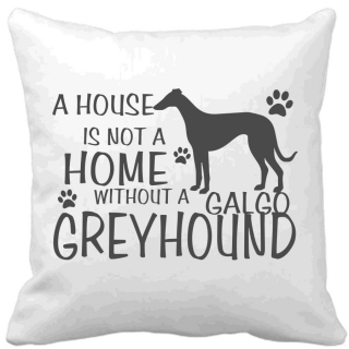 Polštář A house is not a home without a Galgo greyhound