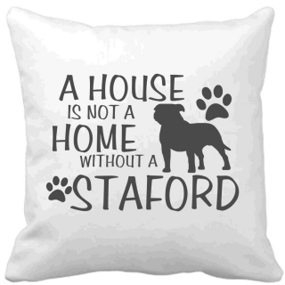 Polštář A house is not a home without a Staford